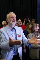 Jeremy Corbyn speaking Labour Party Election Campaign Rally, Swindon - John Harris - 02-11-2019