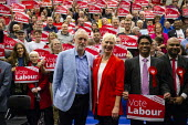 Jeremy Corbyn, Kate Linnegar PPC Labour Party Election Campaign Rally, Swindon - John Harris - 2010s,2019,audience,AUDIENCES,campaign,campaigning,CAMPAIGNS,DEMOCRACY,Election,elections,General Election,Jeremy Corbyn,Labour Party,MP,MPs,Party,placard,placards,POL,political,politician,politicians