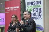 Jonathan Ashworth speaking Labour Party election meeting with NHS staff, Unison HQ, London - Philip Wolmuth - 2010s,2019,campaign,campaigning,CAMPAIGNS,DEMOCRACY,election,elections,General Election,Jonathan Ashworth,London,meeting,meetings,member,member members,members,MP,MPs,National Health Service,NHS,Party