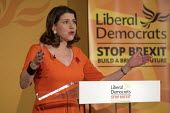 Jo Swinson speaking Liberal Democrats General Election Campaign launch, London - Philip Wolmuth - 2010s,2019,campaign,campaigning,CAMPAIGNS,DEMOCRACY,democrat,Democrats,Election,elections,FEMALE,General Election,Jo Swinson,launch,launching,Lib Dem,Lib Dems,Liberal,Liberal Democrats,Liberal Democra