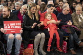 Labour supporters, Jeremy Corbyn Brexit speech, Harlow, Essex - Jess Hurd - 2010s,2019,Brexit,campaign,campaigning,CAMPAIGNS,DEMOCRACY,ELECTION,elections,Essex,FEMALE,general,General Election,Harlow,Jeremy Corbyn,Labour Party,people,person,persons,POL,political,POLITICIAN,POL