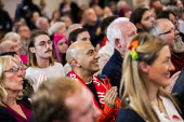 Labour supporters, Jeremy Corbyn Brexit speech, Harlow, Essex - Jess Hurd - 2010s,2019,Brexit,campaign,campaigning,CAMPAIGNS,DEMOCRACY,ELECTION,elections,Essex,general,General Election,Harlow,Jeremy Corbyn,Labour Party,POL,political,POLITICIAN,POLITICIANS,Politics,SPEAKER,SPE
