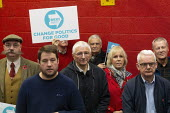 Brexit Party Election Campaign, Bolsover, Derbyshire - John Harris - 2010s,2019,age,ageing population,boxing club,Brexit,Brexit Party,Campaign,CAMPAIGNING,CAMPAIGNS,DEMOCRACY,elderly,Election,ELECTIONS,Far Right,Far Right,FEMALE,male,man,men,old,Party,people,person,per