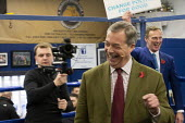 Nigel Farage, Brexit Party Election Campaign, Bolsover, Derbyshire - John Harris - 05-11-2019