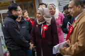 Apsana Begum General Election Labour Party campaign launch, Chrisp Street Market for Poplar and Limehouse constituency, East London. - Jess Hurd - 09-11-2019
