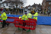 Enviroment Agency fitting barriers to flood defenses, Stratford upon Avon, Warwickshire - John Harris - 15-11-2019