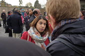 Tulip Siddiq, Labour Party PPC for Hampstead and Kilburn and supporters gather for canvassing, West Hampstead, London - Philip Wolmuth - 2010s,2019,Asian,Asians,BAME,BAMEs,Black,BME,bmes,campaign,campaigning,CAMPAIGNS,candidate,candidates,CANVASING,canvassing,democracy,diversity,ELECTION,elections,ethnic,ethnicity,FEMALE,General Electi