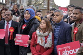 Sadiq Khan and Tulip Siddiq, Labour Party PPC for Hampstead and Kilburn, London Mayor Sadiq Khan and supporters gather for canvassing - Philip Wolmuth - 2010s,2019,Asian,Asians,BAME,BAMEs,Black,BME,bmes,campaign,campaigning,CAMPAIGNS,candidate,candidates,CANVASING,canvassing,democracy,diversity,ELECTION,elections,ethnic,ethnicity,FEMALE,General Electi