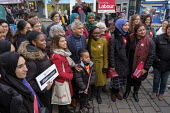 Tulip Siddiq, Labour Party PPC for Hampstead and Kilburn and supporters gather for canvassing, West Hampstead, London - Philip Wolmuth - 16-11-2019