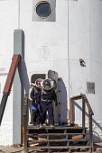 Hanksville, Utah, USA: Mars Desert Research Station. Researchers simulate living on Mars. 'Expedition Boomerang' brought Australian researchers to the station. Jennifer Lane and Dr. Shane Usher went o... - Jim West - 13-11-2019