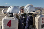 Hanksville, Utah, USA: Mars Desert Research Station. Researchers simulate living on Mars. 'Expedition Boomerang' brought Australian researchers to the station. Crew commander Andrew Wheeler (C) leding... - Jim West - 13-11-2019