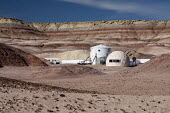 Hanksville, Utah, USA: Mars Desert Research Station. Researchers simulate living on Mars - Jim West - 13-11-2019