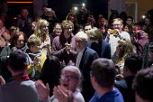 Jeremy Corbyn, Labour Youth Manifesto launch rally Loughborough - John Harris - 2010s,2019,applauding,applause,campaign,campaigning,CAMPAIGNS,DEMOCRACY,ELECTION,elections,General Election,Labour Party,launch,Manifesto,people,person,persons,POL,political,POLITICIAN,POLITICIANS,Pol