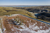 Watford City, North Dakota, USA Oil production, Bakken shale formation near the Missouri River - Jim West - 14-09-2017