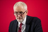 Jeremy Corbyn revealing the secret UK-US Trade & Investment Working Group report, previously redacted, detailing the proposed NHS sell off in and trade negotiations, Westminster election press confere... - Jess Hurd - 27-11-2019