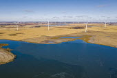 North Dakota, USA, Wind farm, Ashtabula Wind Energy Center - Jim West - 2010s,2019,Alternative Energy,country,countryside,EBF,Economic,Economy,ELECTRICAL,electricity,energy,farm,farms,generator,generators,lake,lakes,maker,makers,making,North Dakota,northern plains,outdoor