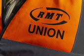 RMT Guards on strike to keep the guard on the train, Worcester SWR Railway Station. Southern are to abolish guards and introduce Driver Only Operated trains - John Harris - 30-11-2019