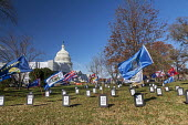 Washington DC, USA: The Senate Graveyard Where House Bills Go To Die, near the US Capitol building. Since the Democrats won control of the House in 2016, they have passed numerous bills that the Repub... - David Bacon - 2010s,2019,activist,activists,against,America,bills,CAMPAIGNING,CAMPAIGNS,capitol,cemeteries,cemetery,Congress,DC,Democrats,DEMONSTRATION,District of Columbia,flag,flags,government,grave,graves,gravey