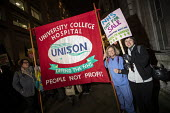 Unison banner, NHS Not for Sale, No to Trump, No to NATO Protest London - Jess Hurd - 03-12-2019