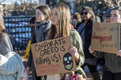 Washington DC USA Corporate Greed Is Killing Us! Funeral for Future protest on Capitol Hill to demand that government addresses the crisis of climate change. It was part of Fridays for Future Global D... - Jim West - 29-11-2019
