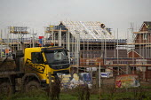 Construction of new houses on the edge of town, Evesham, Worcestershire. Bloor Homes - John Harris - 05-12-2019