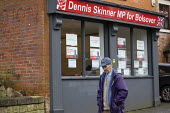 General Election Campaign office, Dennis Skinner MP, Bolsover, Derbyshire - John Harris - 2010s,2019,campaign,campaigning,CAMPAIGNS,DEMOCRACY,Dennis Skinner,Election,elections,General Election,Labour Party,office,offices,POL,political,POLITICIAN,POLITICIANS,Politics,Town,Urban,Window,Windo