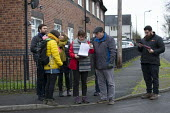 Labour Party members campaigning on the streets, General Election Campaign, Dinnington, South Yorkshire - John Harris - 2010s,2019,campaign,campaigning,CAMPAIGNS,CANVASING,canvassing,DEMOCRACY,Election,elections,General Election,Labour Party,leaflet,LEAFLETING,leaflets,leafletting,MEMBER,members,Party,POL,political,POL