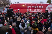 Jeremy Corbyn speaking to supporters, General Election Campaign, Dinnington, South Yorkshire - John Harris - 11-12-2019