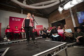Emily Thornberry speaking general election rally, Hoxton Docks, Hackney, East London - Jess Hurd - 2010s,2019,campaign,campaigning,CAMPAIGNS,DEMOCRACY,DOCK,Docks,East,election,elections,Emily Thornberry,eve of poll,FEMALE,General Election,Hackney,HARBOUR,Labour Party,London,MP,MPs,people,person,per