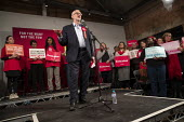 Jeremy Corbyn speaking, general election rally, Hoxton Docks, Hackney, East London. - Jess Hurd - 11-12-2019