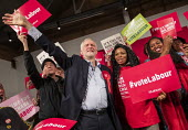 Jeremy Corbyn speaking, general election rally, Hoxton Docks, Hackney, East London. - Jess Hurd - 2010s,2019,BAME,BAMEs,Black,Black and White,BME,bmes,campaign,campaigning,CAMPAIGNS,DEMOCRACY,diversity,DOCK,Docks,East London,election,elections,ethnic,ethnicity,eve of poll,FEMALE,General Election,H