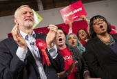 Jeremy Corbyn, Diane Abbot general election rally, Hoxton Docks, Hackney, East London. - Jess Hurd - 11-12-2019