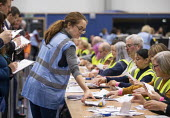 Vote counting, Bristol - Paul Box - 2010s,2019,ballot,ballot paper,ballot papers,BALLOTING,ballots,cities,City,count,counting,DEMOCRACY,ELECTION,elections,employee,employees,Employment,General Election,job,jobs,LBR,people,POL,political,
