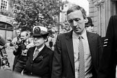 MOD civil servant Clive Ponting leaving court, London 1984. He was charged under the Official Secrets Act for leaking information about the sinking of the General Belgrano during the Falklands War to... - NLA - 11-09-1984