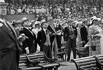 Wealthy racegoers watching Ascot Races 1975 Royal Enclosure - NLA - 18-06-1975