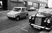 Early experimental electric car being demonstrated London 1981, operated by British Rail, Godfrey Davis and Europcar in a joint venture - NLA - 09-11-1981