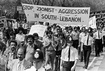 Palestinians protest against Israeli aggression in Lebanon, London 1980 - NLA - 17-05-1980