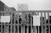 Occupation and Work in starts, Briant Colour Printing, Peckham, South London, 1972 Threatened with closure the occupation lasted a year - Peter Arkell - 22-06-1972