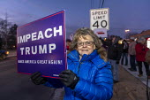 Rochester Hills, Michigan, USA Protest for the impeachment of President Trump. They were outside the office of Elissa Slotkin, a Democrat elected in 2018 to represent a district that voted for Trump i... - Jim West - 17-12-2019