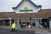 Morrisons supermarket, Stratford upon Avon, Warwickshire - John Harris - 2020,2020s,bought,building,buildings,buying,consumer,consumers,customer,customers,EARNINGS,EBF,Economic,Economy,employee,employees,Employment,Income,job,jobs,LBR,Low Pay,Low Income,low paid,Low Pay,ma