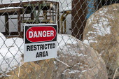 Madison Heights, Michigan USA, Environmental Protection Agency Superfund cleanup site where the owner of Electro-Plating Services dumped toxic chemicals. A green ooze containing hexavalent chromium fl... - Jim West - 19-01-2020