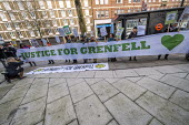 Grenfell fire Inquiry phase two, day one, Kensington residents campaigning for Justice, Paddington, London. - Jess Hurd - 27-01-2020