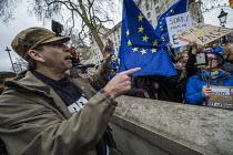 Brexit Day, Westminster, London. - Jess Hurd - 2020,2020s,activist,activists,against,argue,arguing,argument,Brexit,Brexit Day,CAMPAIGNING,CAMPAIGNS,DEMONSTRATING,demonstration,discussing,discussion,EU,European Union,flag,flags,Independence,leave,L