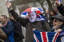 Brexit Day, Westminster, London. - Jess Hurd - 2020,2020s,activist,activists,against,Brexit,Brexit Day,CAMPAIGNING,CAMPAIGNS,DEMONSTRATING,demonstration,EU,European Union,Independence,Jeremy Corbyn,leave,London,mask,masks,nationalism,nationalist,n