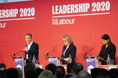 Keir Starmer, Rebecca Long Bailey and Lisa Nandy, Labour Leadership Hustings, hosted by Co-coperative Party, Business Design Centre, North London. - Jess Hurd - 2020,2020s,Business,Co-coperative Party,Design,FEMALE,husting,hustings,Keir Starmer,Labour Party,leader,Leadership,Lisa Nandy,London,MP,MPs,Party,people,person,persons,POL,political,politician,politic