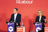 Keir Starmer, Rebecca Long Bailey, Labour Leadership Hustings, hosted by Co-coperative Party, Business Design Centre, North London. - Jess Hurd - 16-02-2020