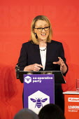 Rebecca Long Bailey speaking, Labour Leadership Hustings, hosted by Co-coperative Party, Business Design Centre, North London. - Jess Hurd - 16-02-2020