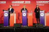 Keir Starmer, Rebecca Long Bailey and Lisa Nandy, Labour Leadership Hustings, hosted by Co-coperative Party, Business Design Centre, North London. - Jess Hurd - 16-02-2020