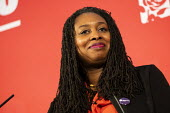 Dawn Butler speaking Labour Deputy Leadership Hustings, hosted by Co-coperative Party, Business Design Centre, North London. - Jess Hurd - 2020,2020s,BAME,BAMEs,Black,BME,bmes,Business,Co-coperative Party,Dawn,Dawn Butler,Deputy Leadership,Design,diversity,ethnic,ethnicity,FEMALE,husting,Hustings,Labour Party,leader,leadership,London,min