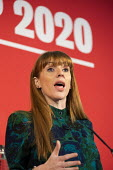 Angela Rayner speaking Labour Deputy Leadership Hustings, hosted by Co-coperative Party, Business Design Centre, North London. - Jess Hurd - 2020,2020s,Angela Rayner,Business,Co-coperative Party,Deputy Leadership,Design,FEMALE,husting,Hustings,Labour Party,leader,leadership,London,Party,people,person,persons,POL,political,POLITICIAN,POLITI